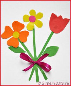 Открытки для мам на 8 марта своими руками с шаблонами